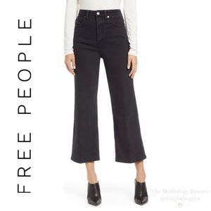 Free People Wales Wide Leg Cropped Jeans